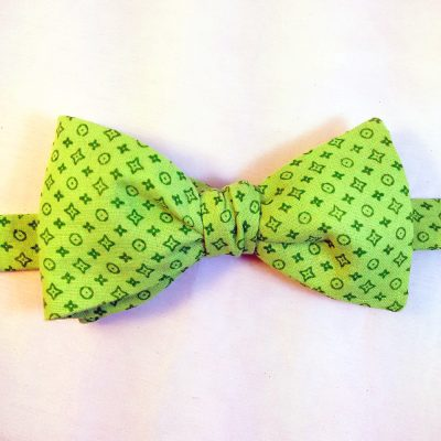 Green Monochrome Bow Tie