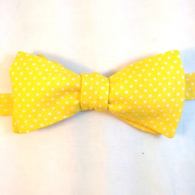 Yellow Polka Dots Bow Tie