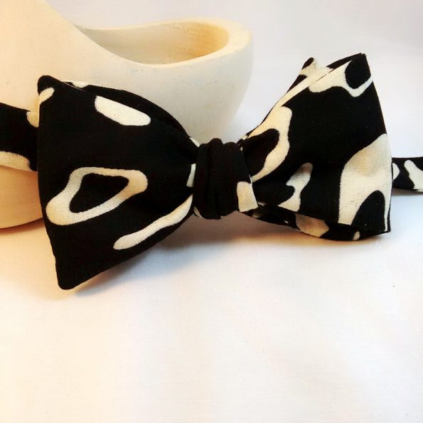 Black Abstract Bow Tie