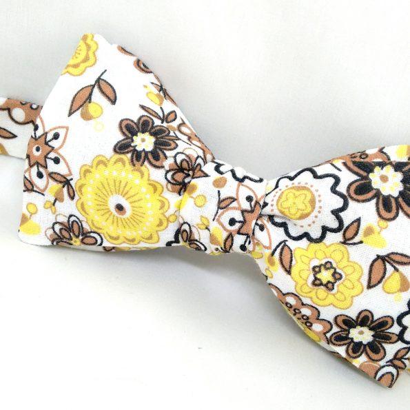 Autumn Floral Bow Tie
