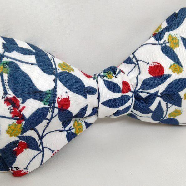 Blue Leaf Bow Tie
