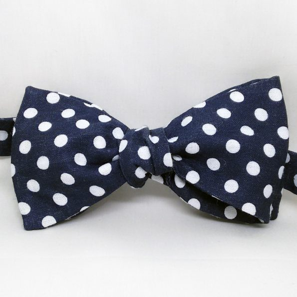 Casual Blue Polka Dots Bow Tie