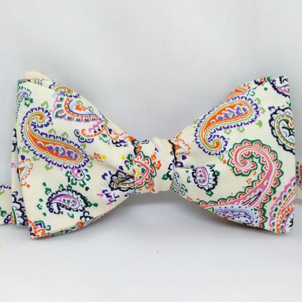 Colourful Paisley Bow Tie