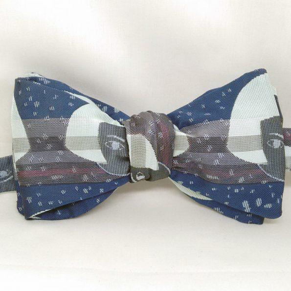 Dark Doll Face Bow Tie