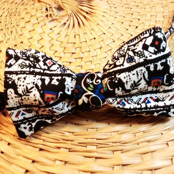 Elephant Tribal Bow Tie