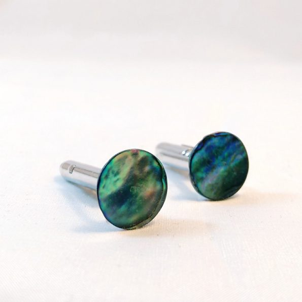 Blue Abalone Shell Cufflinks