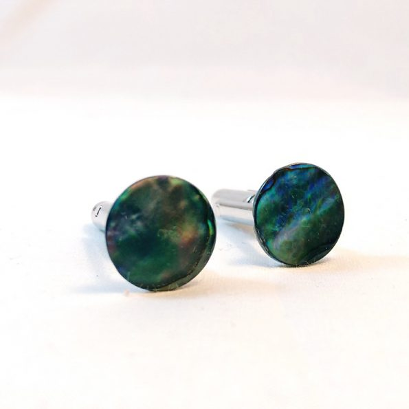 Natural Abalone Cufflinks