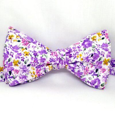 Purple Floral Bow Tie