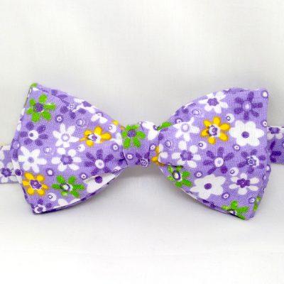 Purple Garden Bow Tie
