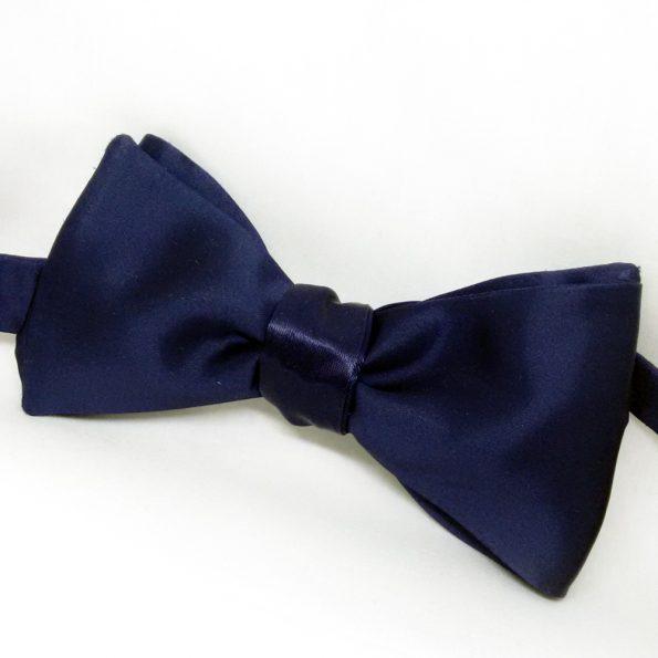 Blue Satin Bow Tie